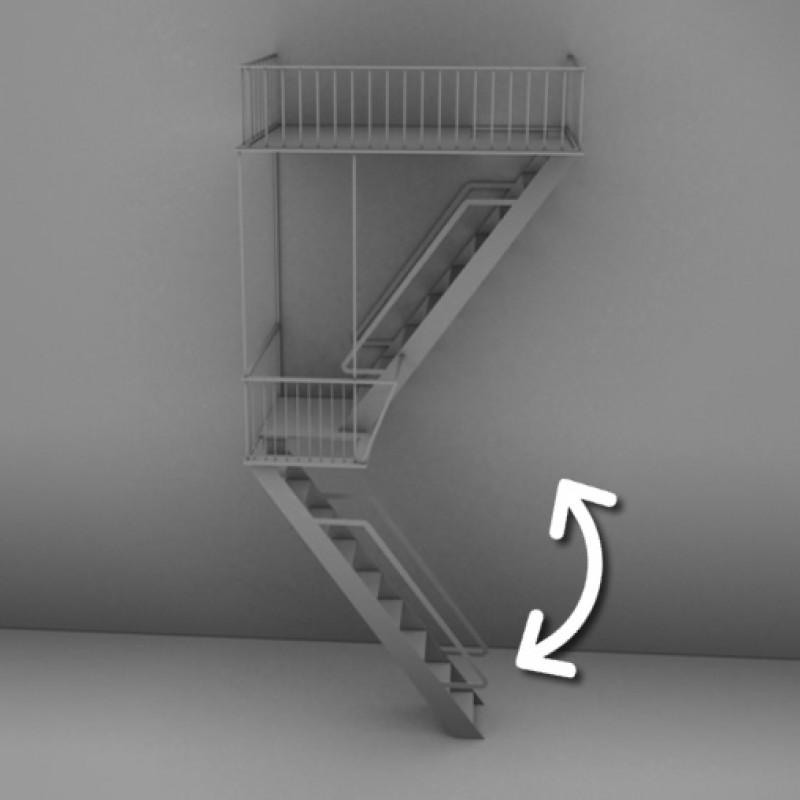 Makaralı Yangın Merdiveni