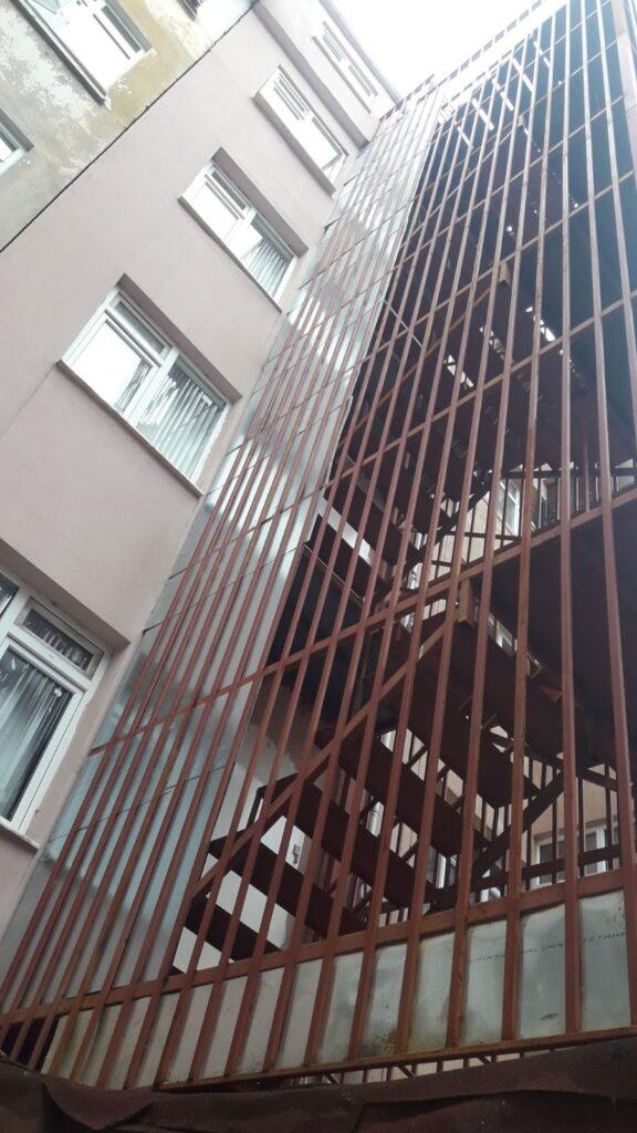 Yangın Merdiveni Teknik Proje